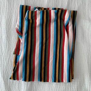 Cropped Rainbow Stripe Pants